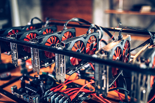 Circuit Board「Mining rig for cryptocurrency」:スマホ壁紙(6)