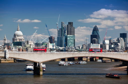 London Bridge - England「London bridge and city of London from Southbank」:スマホ壁紙(15)