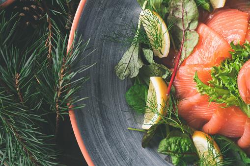 Salmon - Seafood「Traditional Swedish Christmas Dinner with Salmon」:スマホ壁紙(16)
