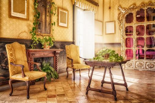 Gothic Style「Ancient majorcan living room / Alfàbia - Sala de l'Alcova」:スマホ壁紙(0)