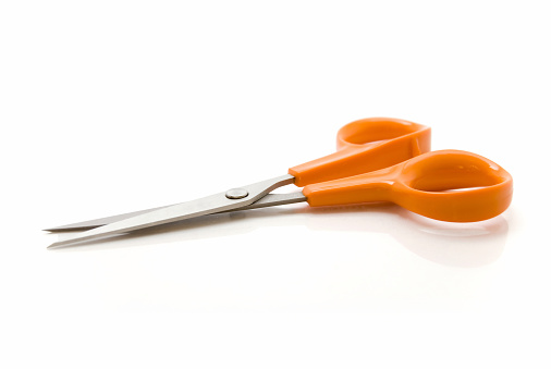 Sewing「A pair of scissors with a orange handle」:スマホ壁紙(19)