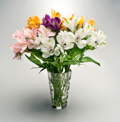 Bunch「Flowers in glass vase」:スマホ壁紙(14)