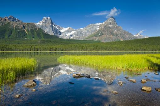 ケフレン山「Waterfowl Lakes.」:スマホ壁紙(9)