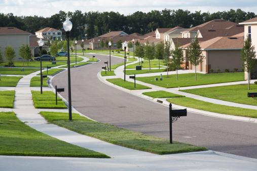 USA「Houses on suburban block, Apopka, Florida」:スマホ壁紙(18)