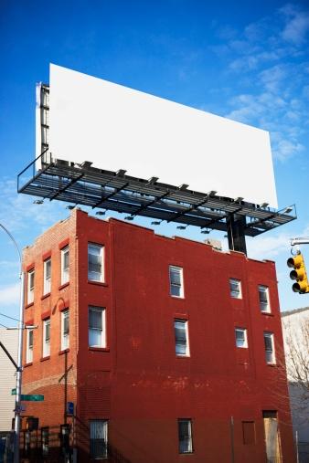 Advertisement「Blank billboard on urban building」:スマホ壁紙(17)