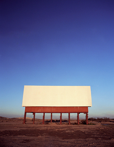 Old-fashioned「Blank billboard in remote landscape」:スマホ壁紙(8)