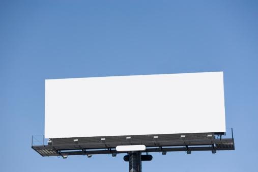 Advertisement「Blank billboard under blue sky」:スマホ壁紙(16)
