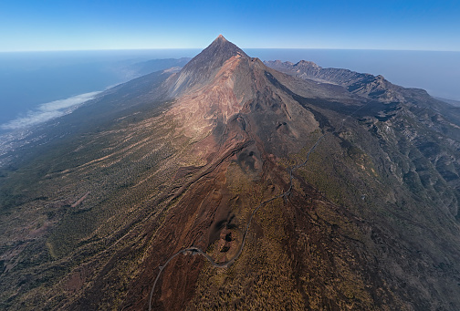Canary「Aerial ultra wide angle volcanic landscape in Teide National Park, Tenerife, Canary islands, Spain」:スマホ壁紙(11)