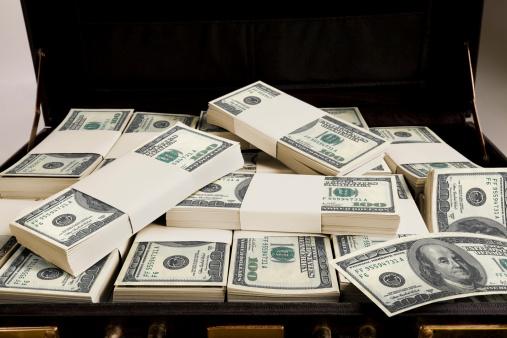 American One Hundred Dollar Bill「Briefcase with money」:スマホ壁紙(6)