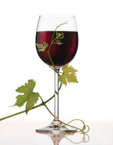 Nouvelle-Aquitaine「Red wine with grape leaves XL」:スマホ壁紙(0)