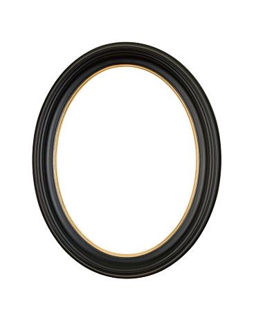 Zero「Picture Frame Black Oval Circle, White Isolated Studio Shot」:スマホ壁紙(17)