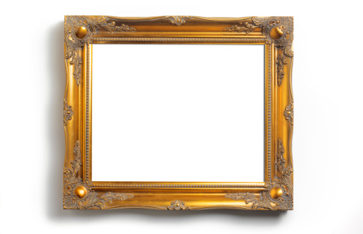 Gold「Picture frame with copy space」:スマホ壁紙(14)