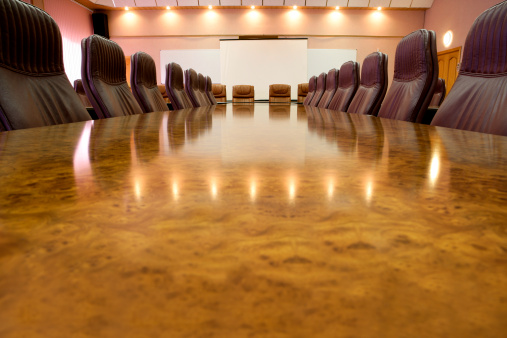 Projection Screen「Long marble conference table with leather chairs」:スマホ壁紙(16)