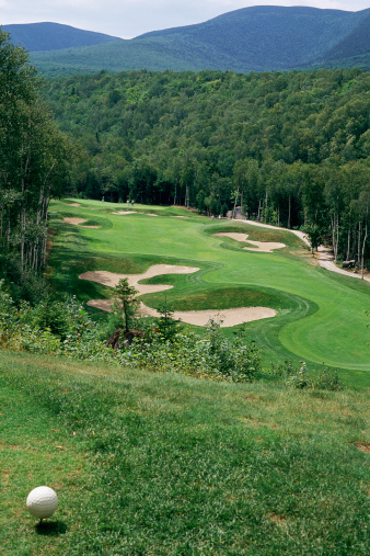 Sand Trap「Golf course set in hilly landscape」:スマホ壁紙(18)