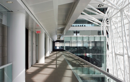 Postmodern「Interior corridor view of modern corporate offices」:スマホ壁紙(8)