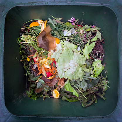 North Brabant「Colorful recycling still of recycling bin viewed from above」:スマホ壁紙(4)