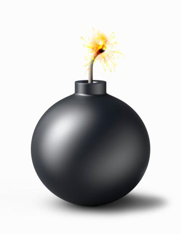Bomb「Bomb with burning fuse」:スマホ壁紙(7)