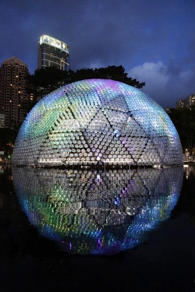 Jessica Hromas「Revelers Gather For Hong Kong's Mid Autumn Lantern Festival」:写真・画像(1)[壁紙.com]