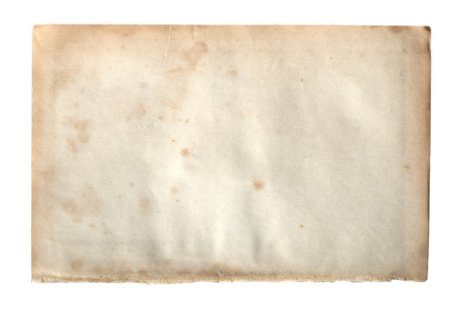 Rusty「Old paper isolated on white background」:スマホ壁紙(7)