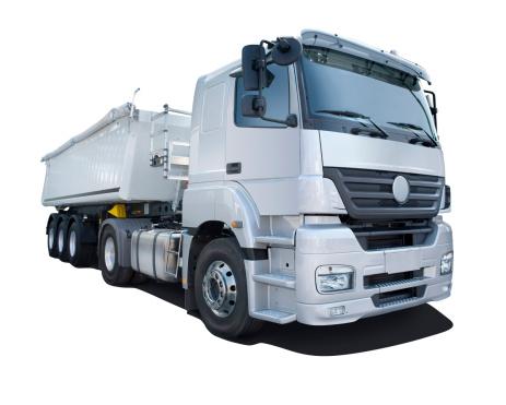 Passenger Cabin「Grey truck isolated on white」:スマホ壁紙(8)