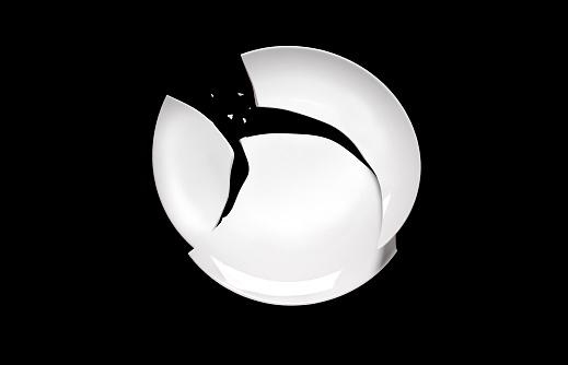 Destruction「Broken plate on black」:スマホ壁紙(8)