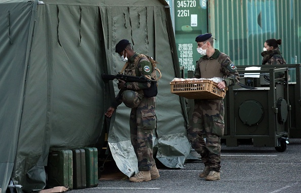 Mulhouse「French Military Builds Field Hospital To Cope With COVID-19 Cases」:写真・画像(4)[壁紙.com]
