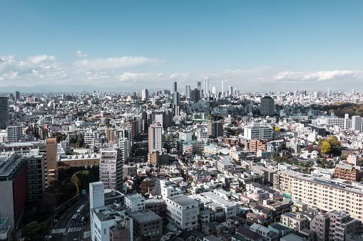 Tokyo Tower「Busy Streets in Tokyo and the view of Shinjuku skytree / Tokyo, Japan」:スマホ壁紙(4)