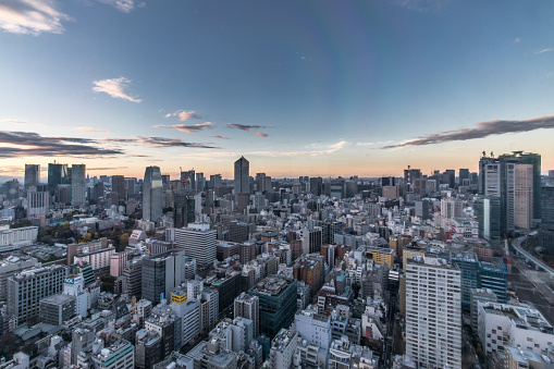 Tokyo Tower「Busy Streets in Tokyo and the view of Tokyo skytree / Tokyo, Japan」:スマホ壁紙(15)