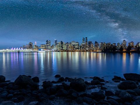 British Columbia「view of city under milky way」:スマホ壁紙(18)