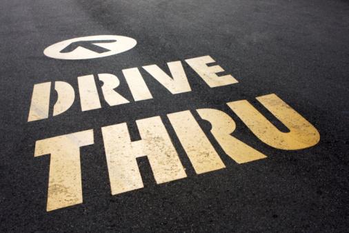 Unhealthy Eating「Drive Thru This Way. Fast Food Sign」:スマホ壁紙(10)
