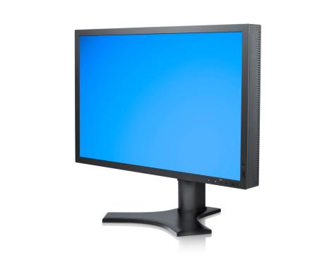 斜めから見た図「TFT LCD またはコンピュータモニタ、クリッピングパス」:スマホ壁紙(17)