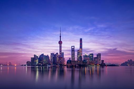 Shanghai「Panoramic skyline of Shanghai」:スマホ壁紙(10)