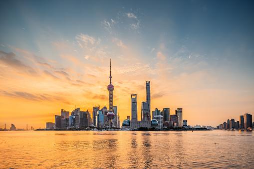 River「Panoramic skyline of Shanghai」:スマホ壁紙(14)