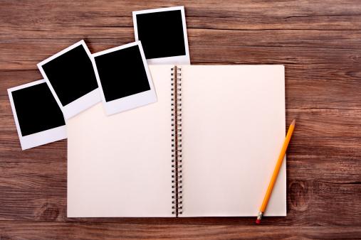 Diary「Photo album with blank photo prints」:スマホ壁紙(9)