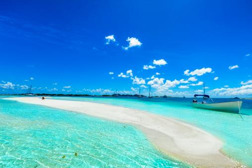 Shallow「Tropical white sand cay beach in Los Roques Venezuela」:スマホ壁紙(19)
