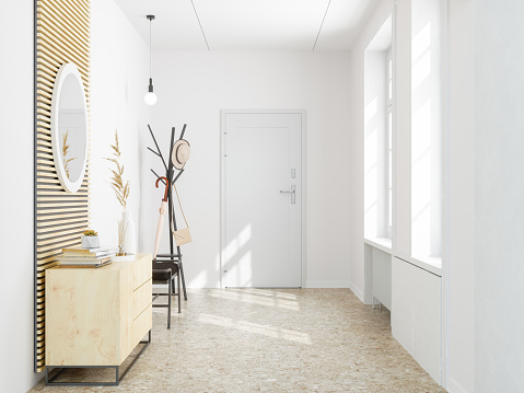 Wood Laminate Flooring「Front door entrance to house」:スマホ壁紙(8)