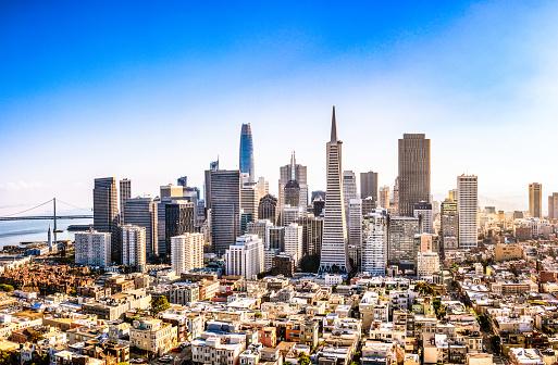 摩天楼「ダウンタウンサンフランシスコ」:スマホ壁紙(12)