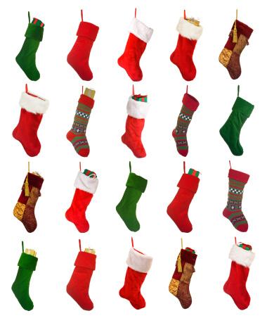 Christmas Stocking「Isolated Christmas Stockings」:スマホ壁紙(14)