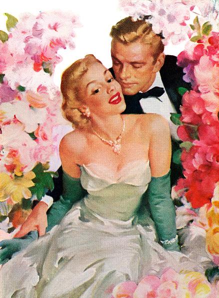 Love - Emotion「Amorous Couple With Flowers」:写真・画像(4)[壁紙.com]