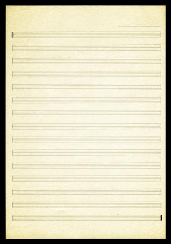 Textured Effect「Blank Sheet Music paper textured background」:スマホ壁紙(13)