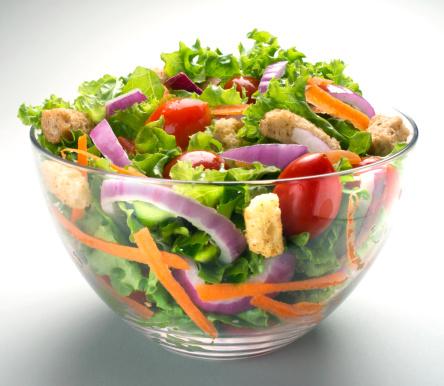Salad Bowl「Salad in glass bowl」:スマホ壁紙(15)