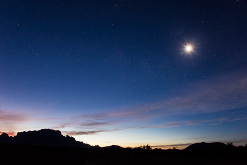 Star - Space「Kofa mountains silhouette」:スマホ壁紙(12)