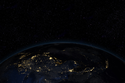 Satellite View「Night in Asia from space」:スマホ壁紙(11)