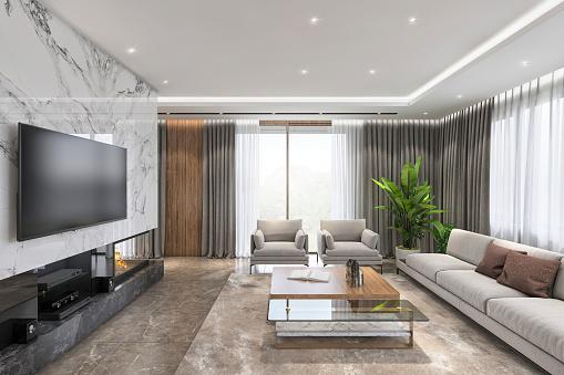 LED Light「Luxury living room interior」:スマホ壁紙(18)
