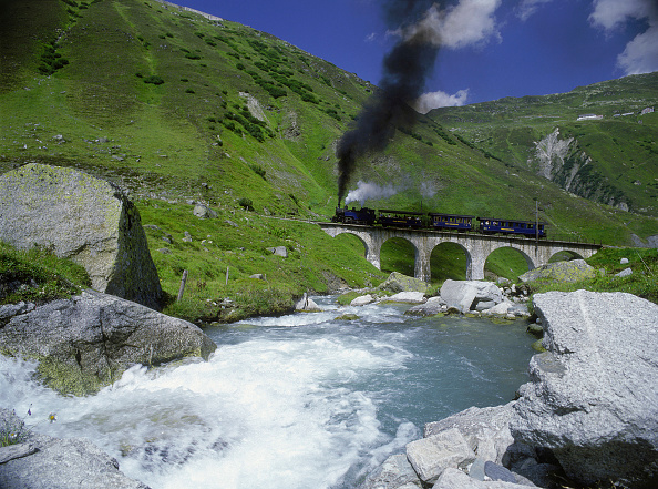 Fumes「Historic steamer - Swiss Alps - Switzerland」:写真・画像(19)[壁紙.com]