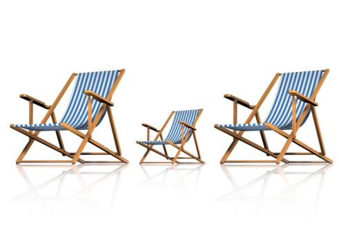 Deck Chair「Striped Deck Chairs on White Background」:スマホ壁紙(9)
