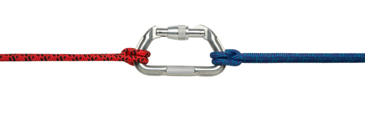 Extreme Sports「Carabiner Clip and Climbing Rope Isolated on White」:スマホ壁紙(11)