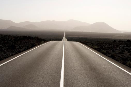 Canary Islands「Spain, Lanzarote, empty road through landscape」:スマホ壁紙(18)