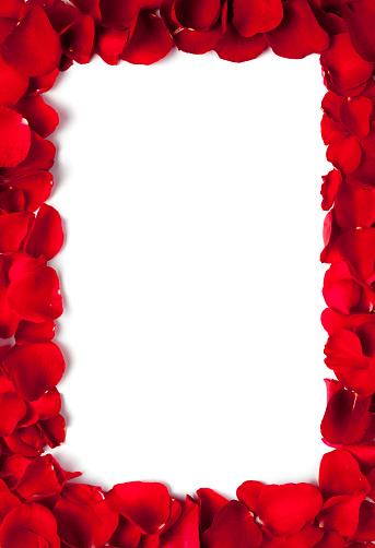 Love - Emotion「Red petals frame」:スマホ壁紙(13)