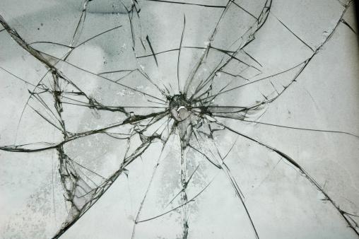 Destruction「Broken Glass Window Bullet Shooting impact hole cracks」:スマホ壁紙(10)